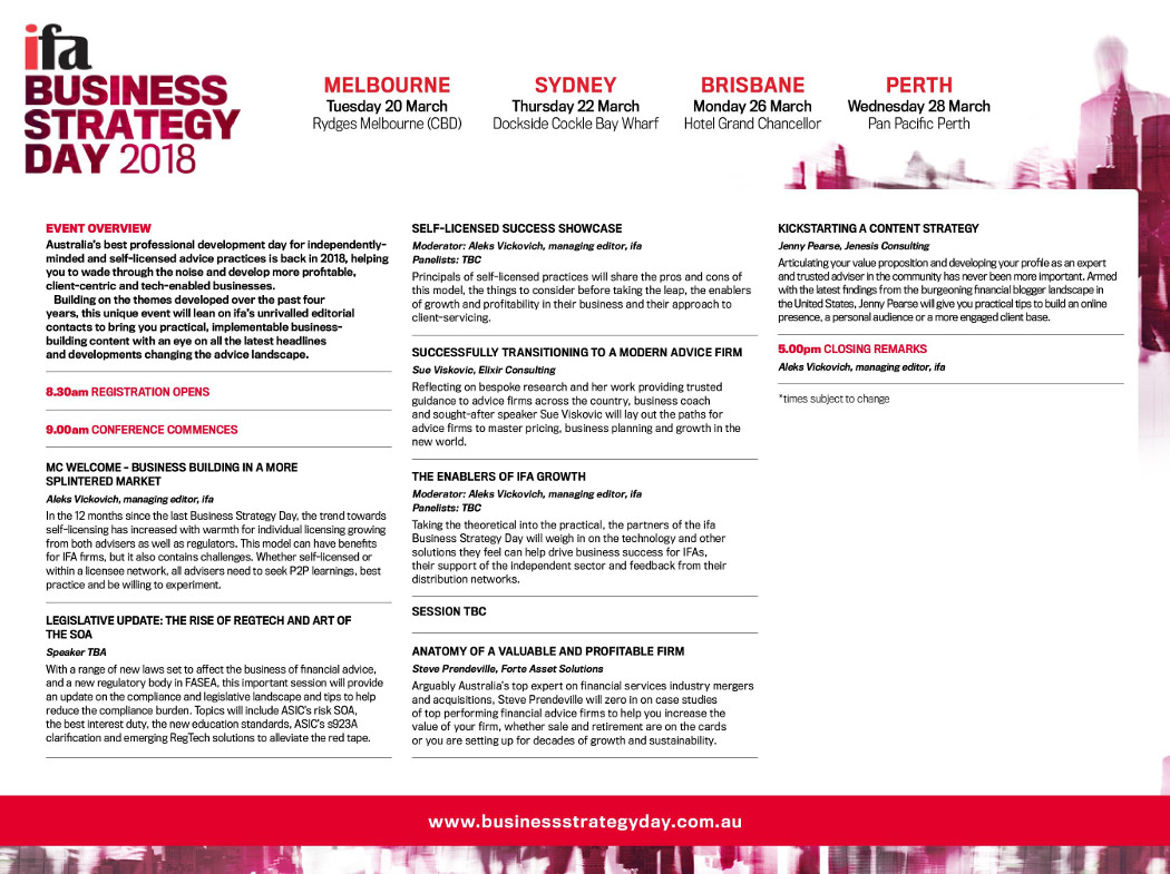 ifa business strategy day 2018