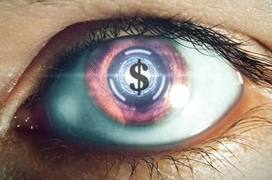 robot money eyes