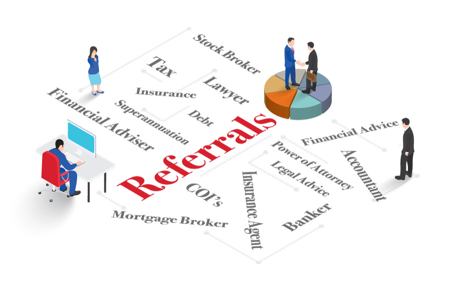 Building financial planning business with referrals from COIs is an important source of new business for financial advisers.
