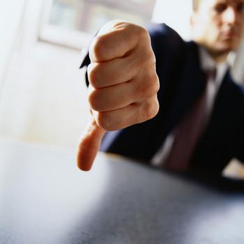 Thumbs down - no good